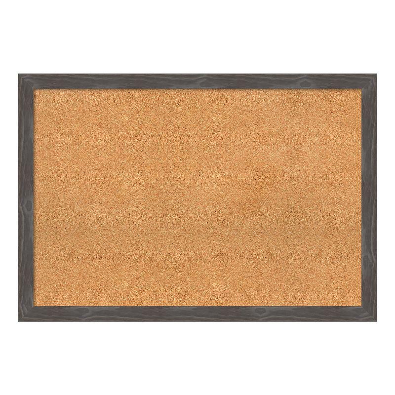 Amanti Art Large Framed Cork Board Wall Decor, Grey