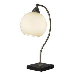 Decor Therapy Frosted Glass Table Lamp