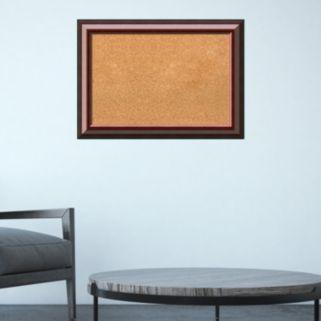 Amanti Art Cambridge Mahogany Finish Framed Cork Board Wall Decor
