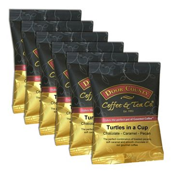 Door County Coffee Turtles in a Cup Ground Coffee 6-pk.