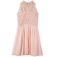 Girls 7-16 Speechless Sequin Lace Mockneck Dress
