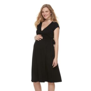 Maternity a:glow Wrap Front Nursing Dress