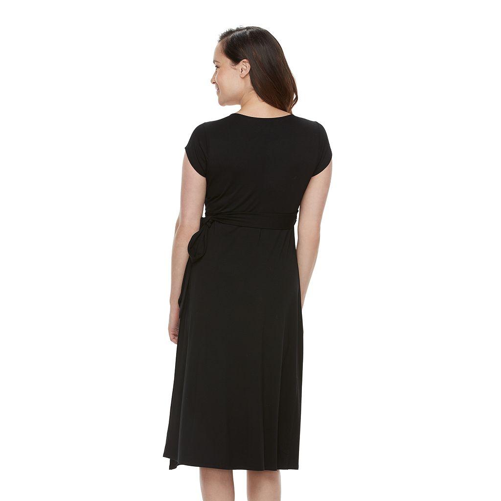 Maternity a:glow Wrap Front Nursing Dress
