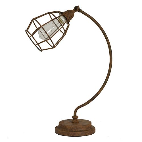 Decor Therapy Antique Caged Desk Lamp