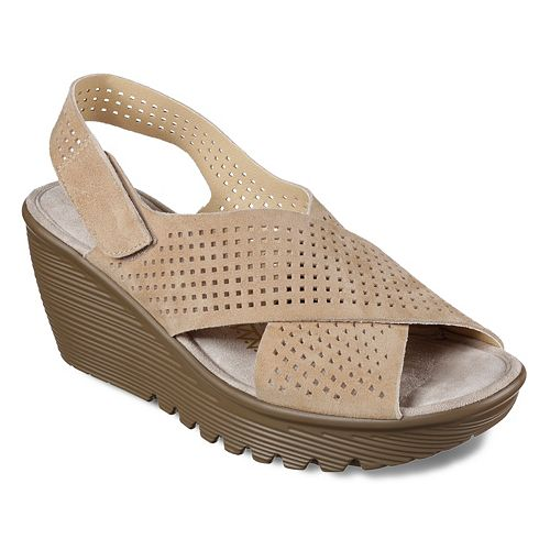 aa67f925d8f4 Skechers Cali Parallel Infrastructure Women s Wedge Sandals