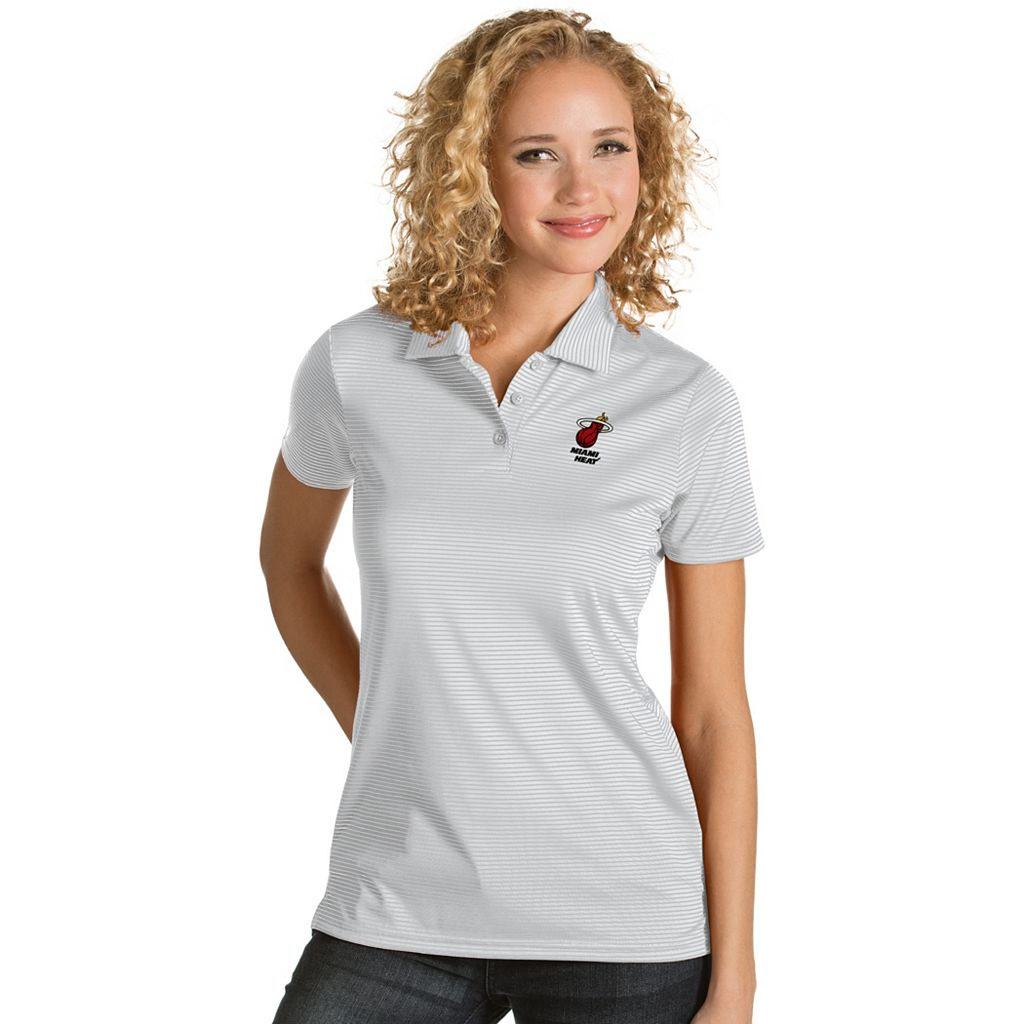 Women's Antigua Miami Heat Quest Desert Dry Polo