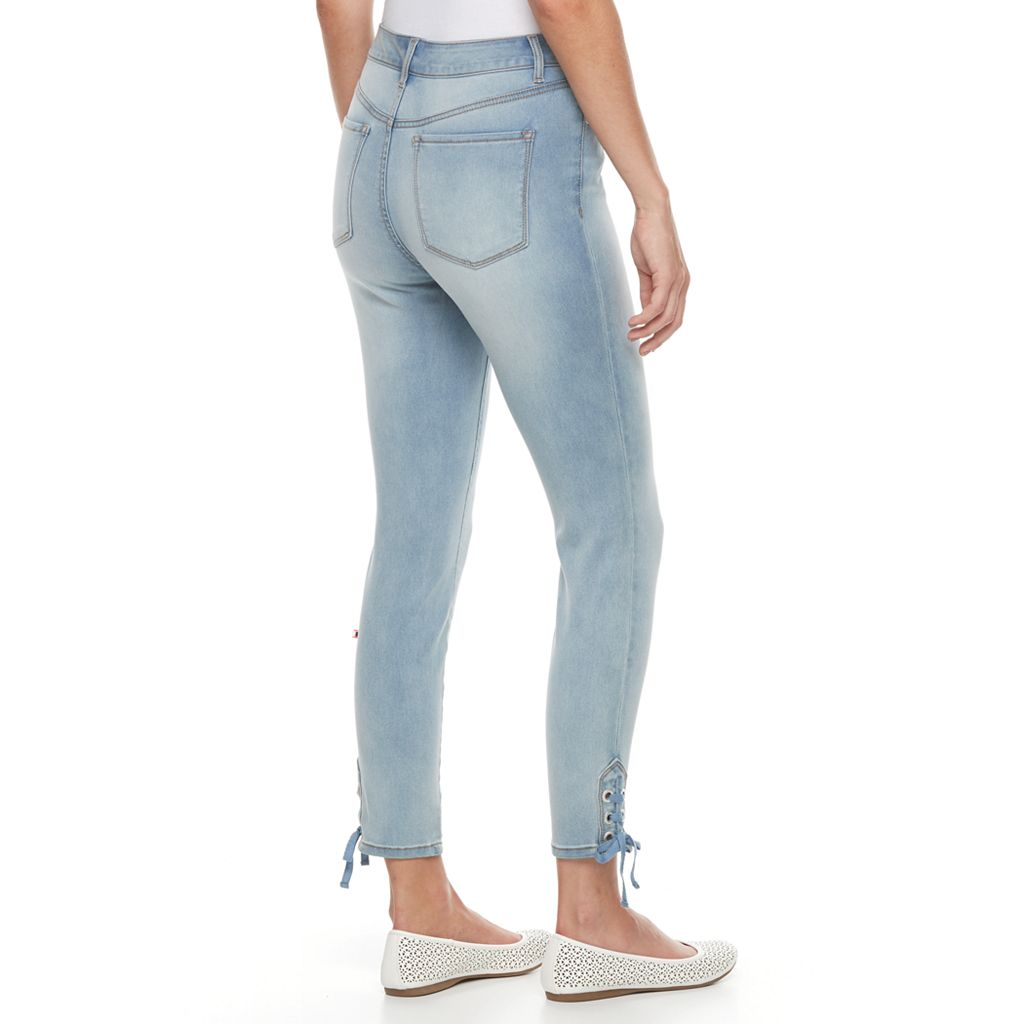 Women's Gloria Vanderbilt Alexandra Lace-Up Ankle Jeans