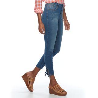 Women's Gloria Vanderbilt Alexandra Lace-Up Ankle Jeans