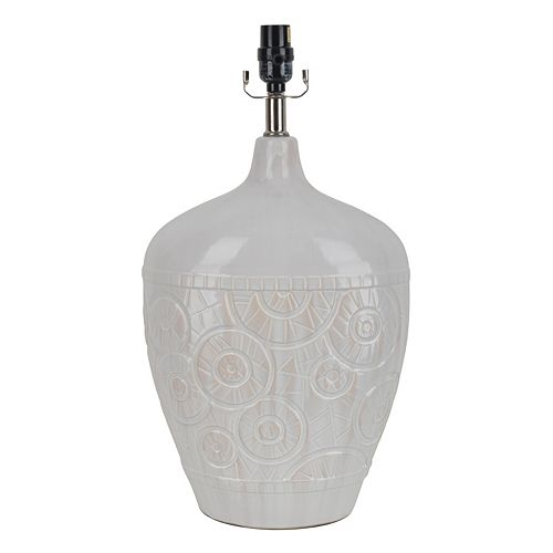 Decor Therapy Embossed Ceramic Table Lamp