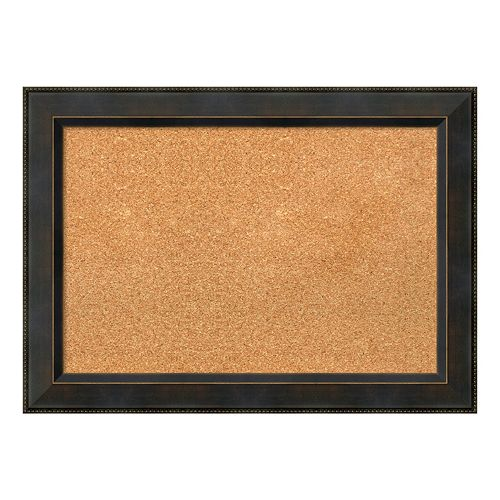 Amanti Art Bronze Finish Framed Cork Board Wall Decor