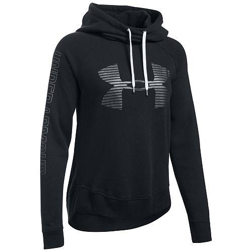 Women s Under Armour Favorite Fleece Metallic Logo Hoodie 26e7b425cd