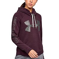 Women's Under Armour Favorite Fleece Metallic Logo Hoodie