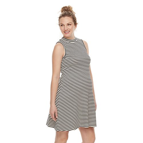 Maternity a:glow Ribbed Swing Dress