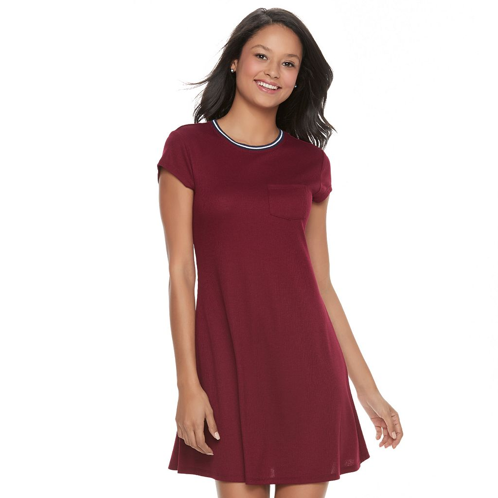 Juniors' SO® Ribbed T-Shirt Dress