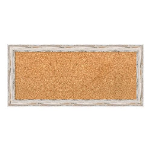Amanti Art Alexandria White Wash Framed Cork Board Wall Decor