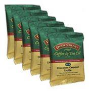 Door County Coffee Decaf Chocolate Caramel Truffle Ground Coffee 6 pk