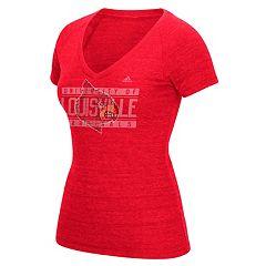 Women's adidas Louisville Cardinals Triblend Tee