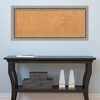 Amanti Art Medium Silver Pewter Finish Cork Board Wall Decor