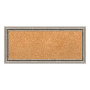 Amanti Art Medium Silver Pewter Finish Cork Board Wall Decor