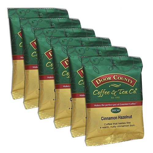 Door County Coffee Decaf Cinnamon Hazelnut Ground Coffee 6-pk.