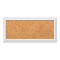 Amanti Art Medium White Framed Cork Board Wall Decor