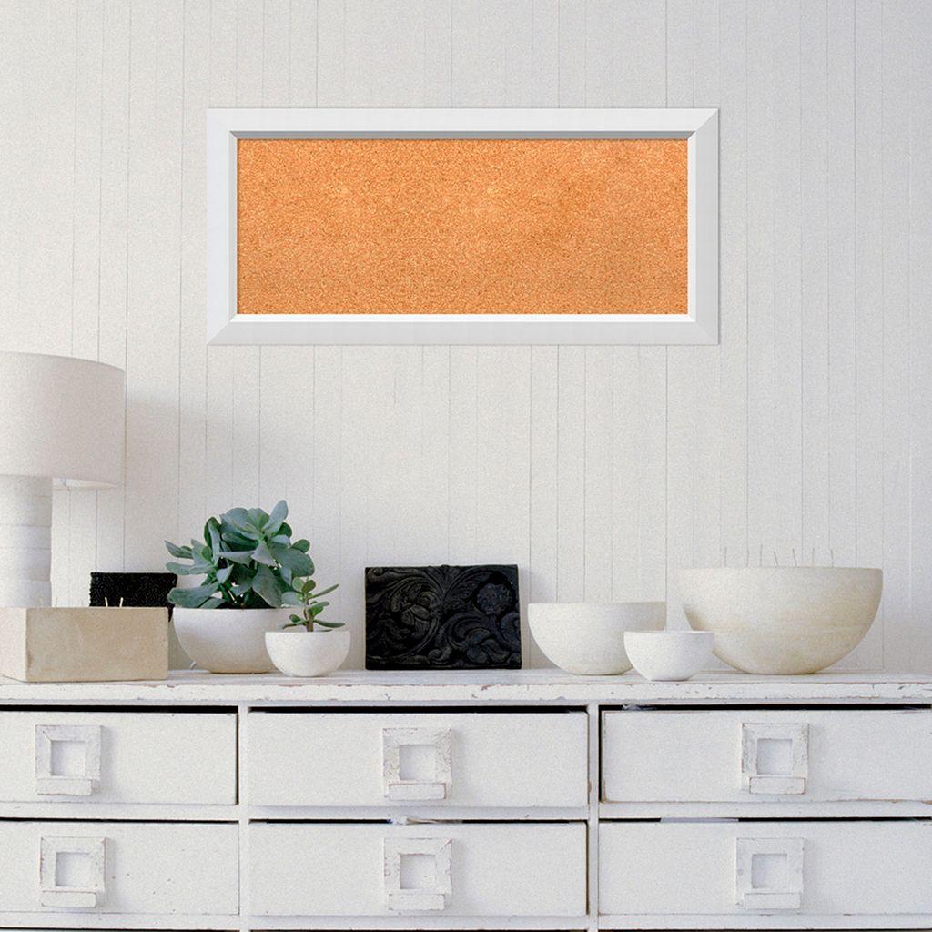 Amanti Art Medium White Framed Cork Board Wall Decor