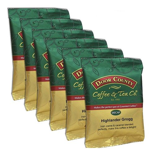 Door County Coffee Decaf Highlander Grogg Ground Coffee 6-pk.