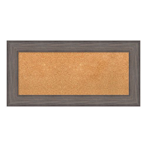 Amanti Art Large Framed Wood Cork Board Wall Decor
