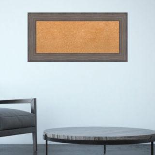 Amanti Art Large Framed Wood Cork Board Wall Decor