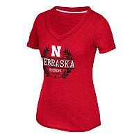 Women's adidas Nebraska Cornhuskers Laural Tee