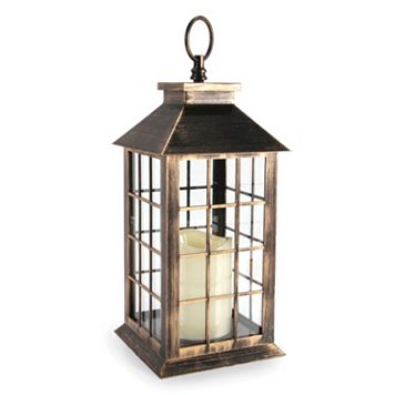 Darice Indoor / Outdoor LED Candle Lantern Table Decor