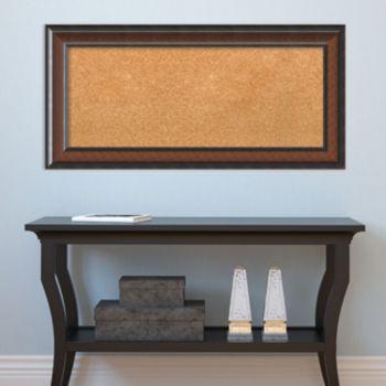 Amanti Art Cyprus Walnut Finish Cork Board Wall Decor