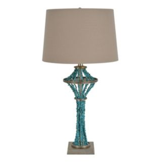 Decor Therapy Simulated Turquoise Table Lamp