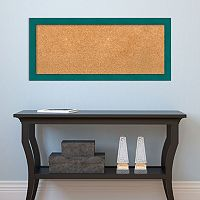Amanti Art Medium Teal Framed Cork Board Wall Decor