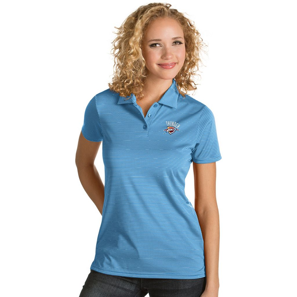 Women's Antigua Oklahoma City Thunder Quest Desert Dry Polo