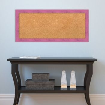 Amanti Art Medium Pink Framed Cork Board Wall Decor