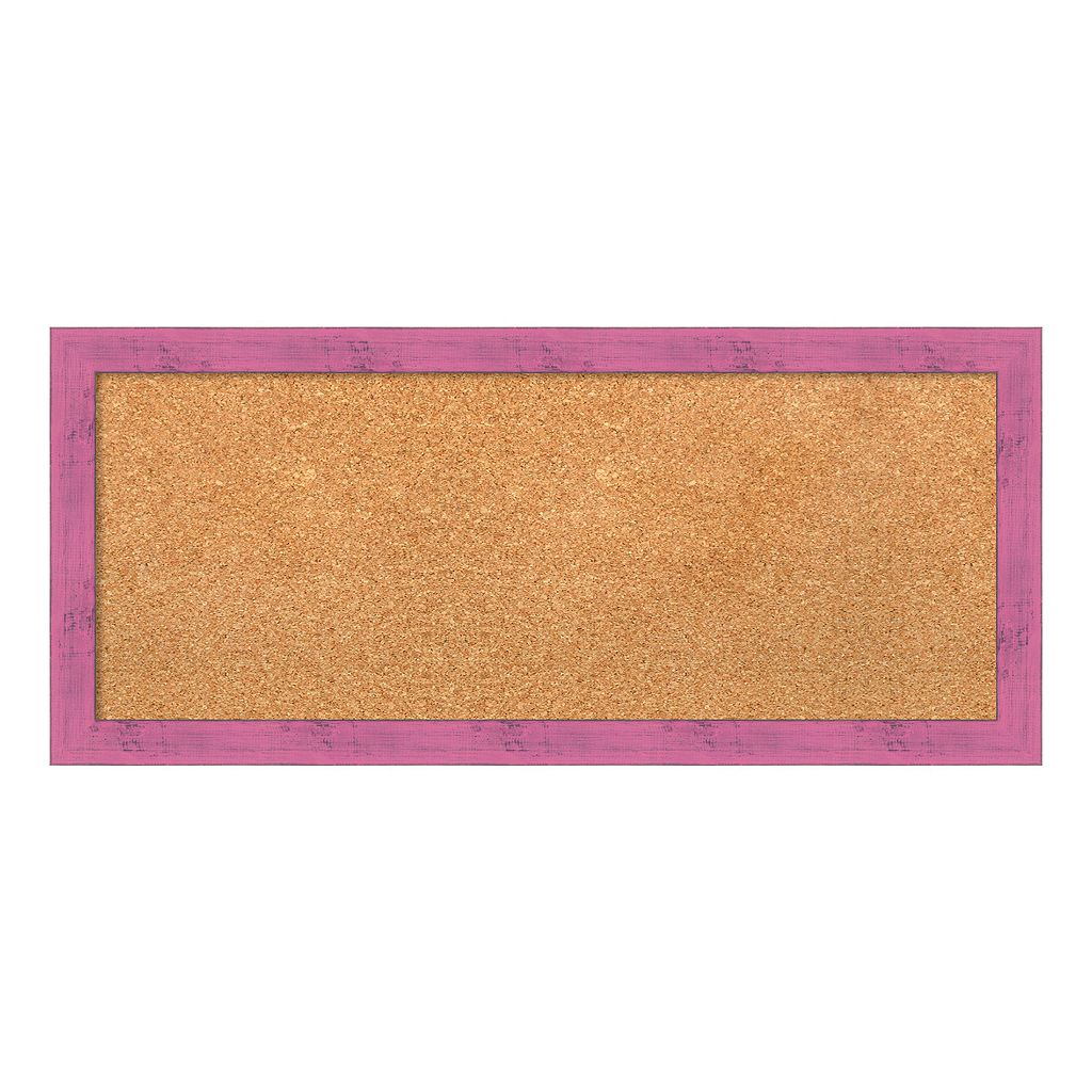 Amanti Art Medium Pink Framed Cork Board Wall Decor
