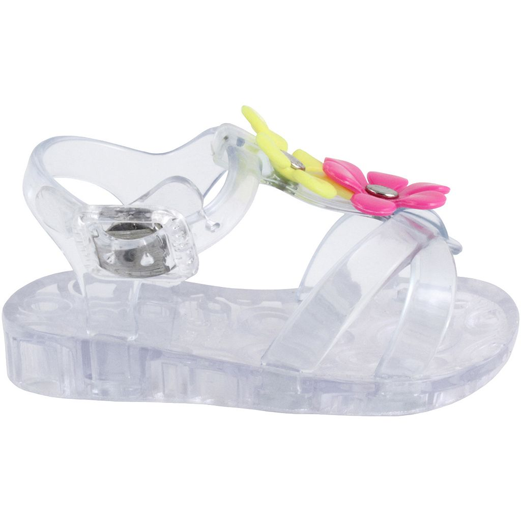 Baby Girl Wee Kids Floral Jelly Thong Sandals
