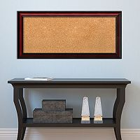 Amanti Art Rubino Framed Cherry Finish Cork Board Wall Decor