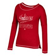 Women's adidas Indiana Hoosiers Soft and Faded Tee