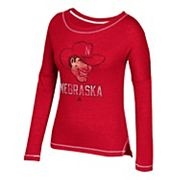 Women's adidas Nebraska Cornhuskers Soft and Faded Tee
