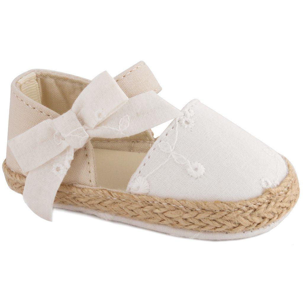 Baby Girl Wee Kids Eyelet Espadrille Crib Shoes
