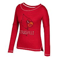 Women's adidas Louisville Cardinals Soft and Faded Tee