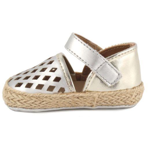 Baby Girl Wee Kids Metallic Laser-Cut Espadrille Crib Shoes