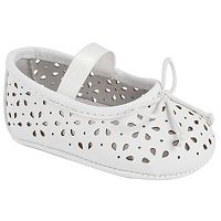 Baby Girl Wee Kids Laser-Cut Ballet Crib Shoes