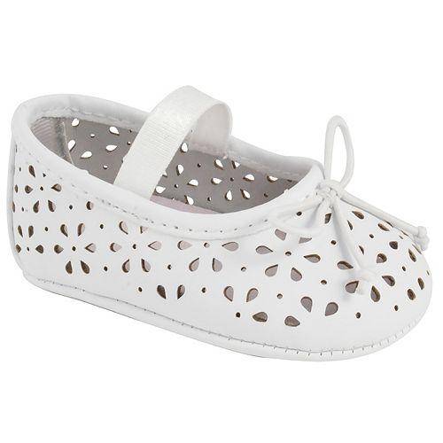 Baby Girl Wee Kids Laser-Cut Ballet Crib Shoes