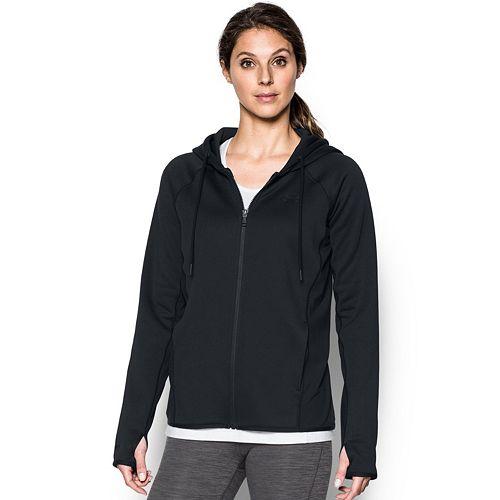 Women's Under Armour Fleece FZ Solid Thumb Hole Zip Up Hoodie