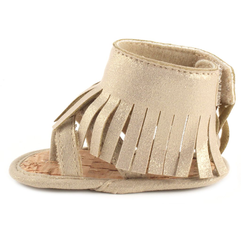 Baby Girl Wee Kids Fringed Crib Sandals