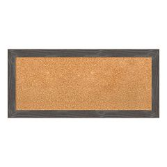 Amanti Art Medium Rustic Gray Framed Cork Board Wall Decor