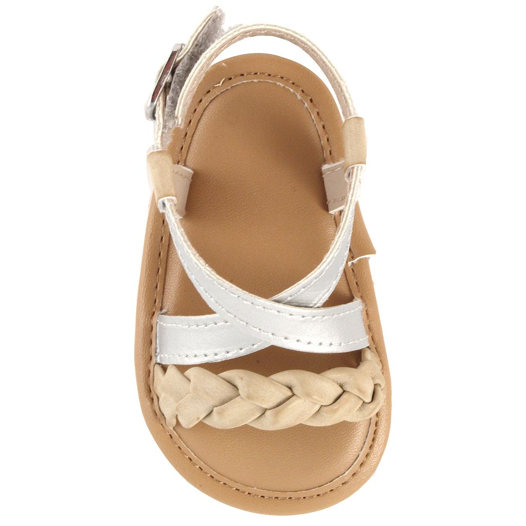 Baby Girl Wee Kids Braided Strappy Crib Sandals